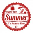Enjoy the summer stamp — Stock Vector