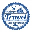 It's time for travel stamp — Stock Vector