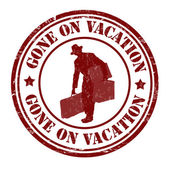 Gone on vacation stamp — Stock Vector