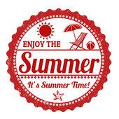 Enjoy the summer stamp — Stock Vector