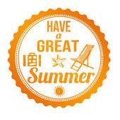 Have a great summer stamp — Stock Vector