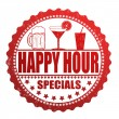 Happy hour specials stamp — Stok Vektör