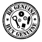 Be genuine buy genuine stamp — Stock Vector
