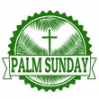 Palm sunday stamp — Stock Vector