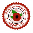 Anzac Day stamp — Stock Vector #42892739