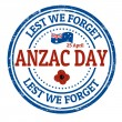 Anzac Day stamp — Stock Vector #42892781