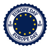 Europe day stamp — Stock Vector