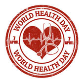 World health day stamp — Stock Vector