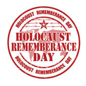 Holocaust rememberance day stamp — Stock Vector