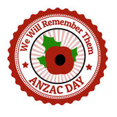 Anzac Day stamp — Stock Vector