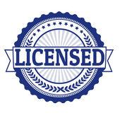 Licensed stamp — Stock Vector