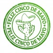 Feliz Cinco de Mayo stamp — Stock Vector