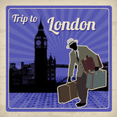 Trip to London retro poster — Vettoriale Stock