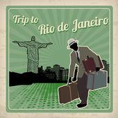 Trip to Rio de Janeiro retro poster — Vetorial Stock