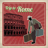 Trip to Rome retro poster — Stockvektor