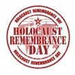 Holocaust remembrance day stamp — Stock Vector