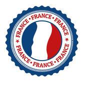 France stamp or label — Vector de stock