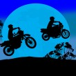Sport motorbike riders — Stock Vector