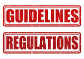 Guidelines and regulations stamps — Vecteur