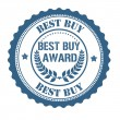 Best buy award stamp — Stock Vector
