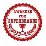 Awarded for superbrands stamp — Stock Vector #43045823