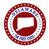 Delaware-Stempel — Stockvektor