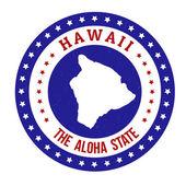 Hawaii stamp — Stock Vector