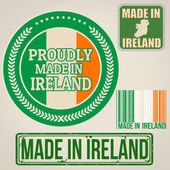 Made in Ireland stamp and labels — Vector de stock