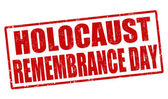 Holocaust remembrance day stamp — Vector de stock