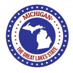 Michigan stämpel — Stockvektor