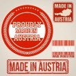 Made in Austria stamp and labels — Stock Vector