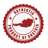 Authentic product of Austria stamp — Vector de stock