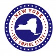 New York stamp — Stock Vector #43293029