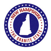 New Hampshire stamp — 图库矢量图片