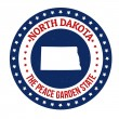 North Dakota stamp — 图库矢量图片