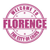 Welcome to Florence stamp — Stock vektor