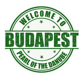 Welcome to Budapest stamp — Stock Vector