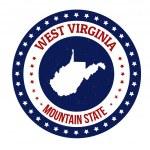 West Virginia stamp — Stock Vector #43458653