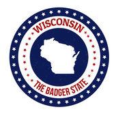 Wisconsin stamp — Cтоковый вектор