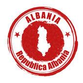 Albania stamp — Stock Vector