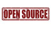 Open Source stamp — Stock Vector
