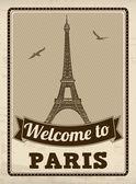 Paris retro poster — Stockvektor