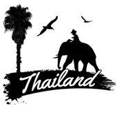 Thailand retro poster — Stock Vector