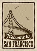 Welcome to San Francisco retro poster — Stock Vector
