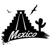 Mexico retro poster — Stock Vector