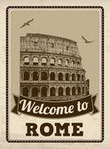 Welcome to Rome retro poster — Stockvektor