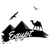 Egypt retro poster — Stock Vector