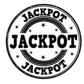 Jackpot  stamp — Stock Vector