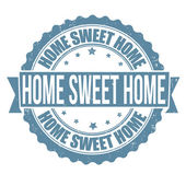 Home sweet home stamp — Stock Vector