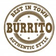Burrito stamp — Stock Vector